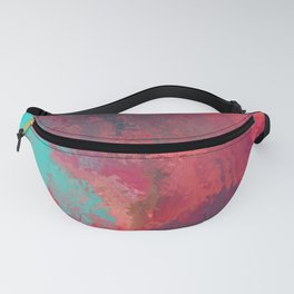 Passionate Firestorm Abstract Painting Fanny Pack