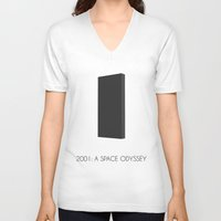 2001 a space odyssey V-neck T-shirts featuring 2001: a space odyssey by A.ROOM