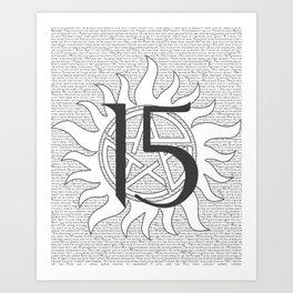 SPN Print (White) Art Print