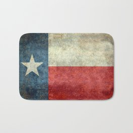 Texas State Flag, Retro Style Bath Mat