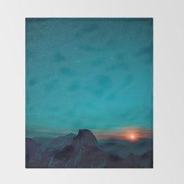 The Sunrises (Color) Throw Blanket