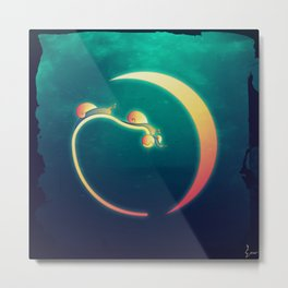 Snail's Moon Eclipse Metal Print