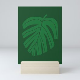 Green Monstera Leaf Mini Art Print