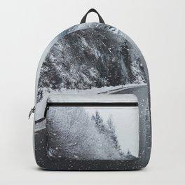 Snowy Mountain Roads Backpack