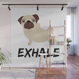 Exhale - Yoga Pug Wall Mural