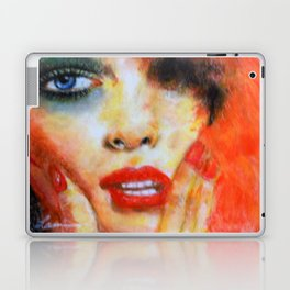 Title: Pastel Portrait - Orange Passion Laptop & iPad Skin
