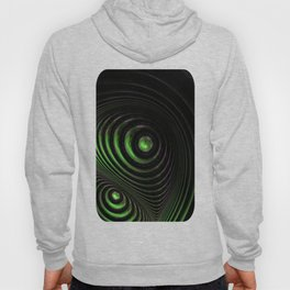 Double spiral green Hoody