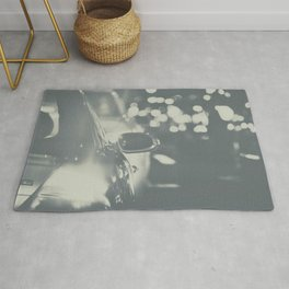 City Traffic in black and white Rug