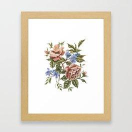 Rustic Florals Framed Art Print