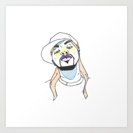 The Rapper-a-Day Project | Day 12: Method Man Art Print