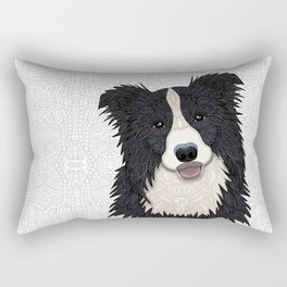 Happy Border Collie Rectangular Pillow