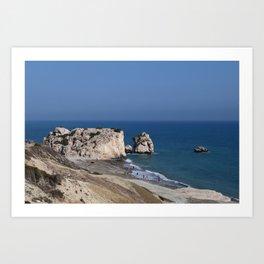 Aphrodite's Rock (Cyprus) Art Print