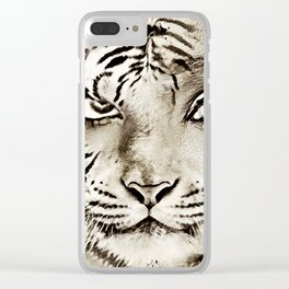 Tiger or woman Clear iPhone Case