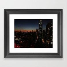 NY sight Framed Art Print