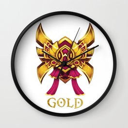 Pink League of Legends Gold Tier  Wall Clock