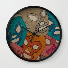love lucha Wall Clock