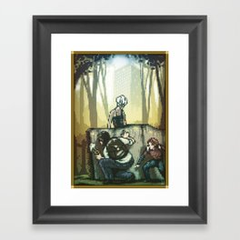 Pixel Art series 12 : In silence Framed Art Print
