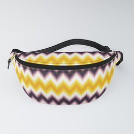 Chevron/Zigzag Gradual Yellow & Dark Purple Color Fanny Pack