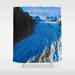 Glacier Landing Shower Curtain