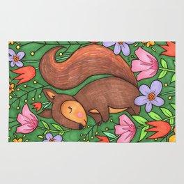 Spring Squirrel Rug