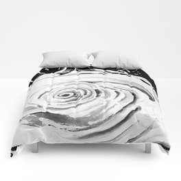 Roses For A Romantic Heart, Black and White Comforters