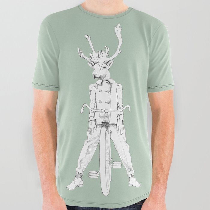 55a5024ca Weird & Wonderful: Racing Reindeer All Over Graphic Tee by ...