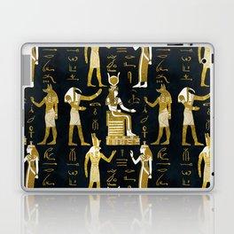 Egyptian Gods Gold and white on dark glass Laptop & iPad Skin