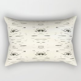 Birchy Gold Rectangular Pillow