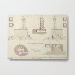 St. George Reef Lighthouse Schematics Metal Print