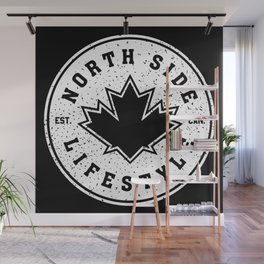 North Side Lifestyle (white) Wall Mural