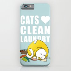 Cats love clean laundry Slim Case iPhone 6s