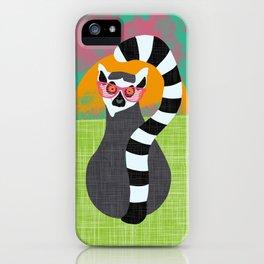 Lemur Summer Vibes iPhone Case