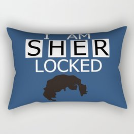 I am Sherlocked Rectangular Pillow