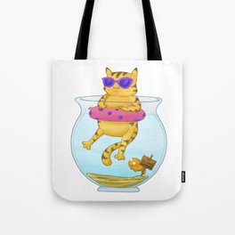 Kitty Dipping Tote Bag