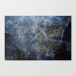 Abstract Signs on Dark Metal Canvas Print