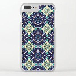 Abstract geometric retro seamless pattern Clear iPhone Case