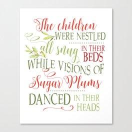 The night before Christmas - Christmas card Canvas Print