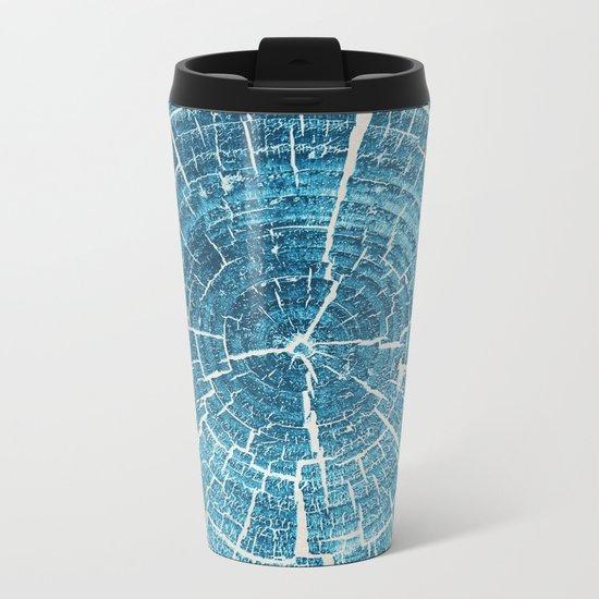 WOOD CUT / indigo Metal Travel Mug