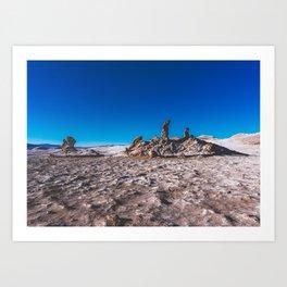 Las Tres Marías (Valle de la luna) - The three Marias Valley of the Moon, Atacama Desert, Chile Art Print