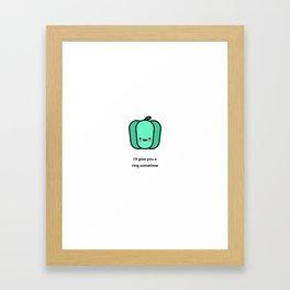 JUST A PUNNY BELL PEPPER JOKE! Framed Art Print