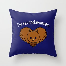 I'm Ravenclawesome Throw Pillow