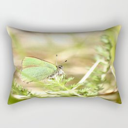 Green Butterfly In The Forest #decor #society6 Rectangular Pillow