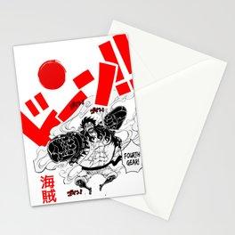 one piece 4 gear Stationery Cards