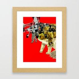 Kitty · CatFight 1 Framed Art Print