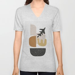 Abstract Shapes  2 Unisex V-Neck