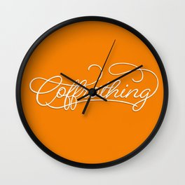 Coffrothing - Coffee lover hand lettering script typographic froth art Wall Clock