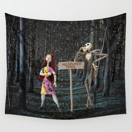 Halloween Town | Jack | Sally | Christmas | Nightmare Wall Tapestry
