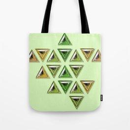 Earth Tones Gradient Trillion Gemstones Tote Bag