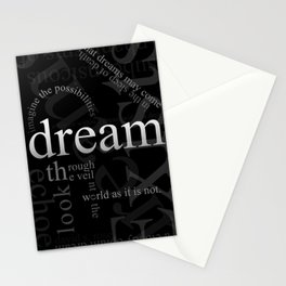 Dreams Inverted Stationery Cards