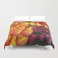 tulips Duvet Covers featuring Tulips by Bizzack Photography
